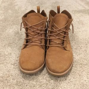 Brown ankle boot no heel
